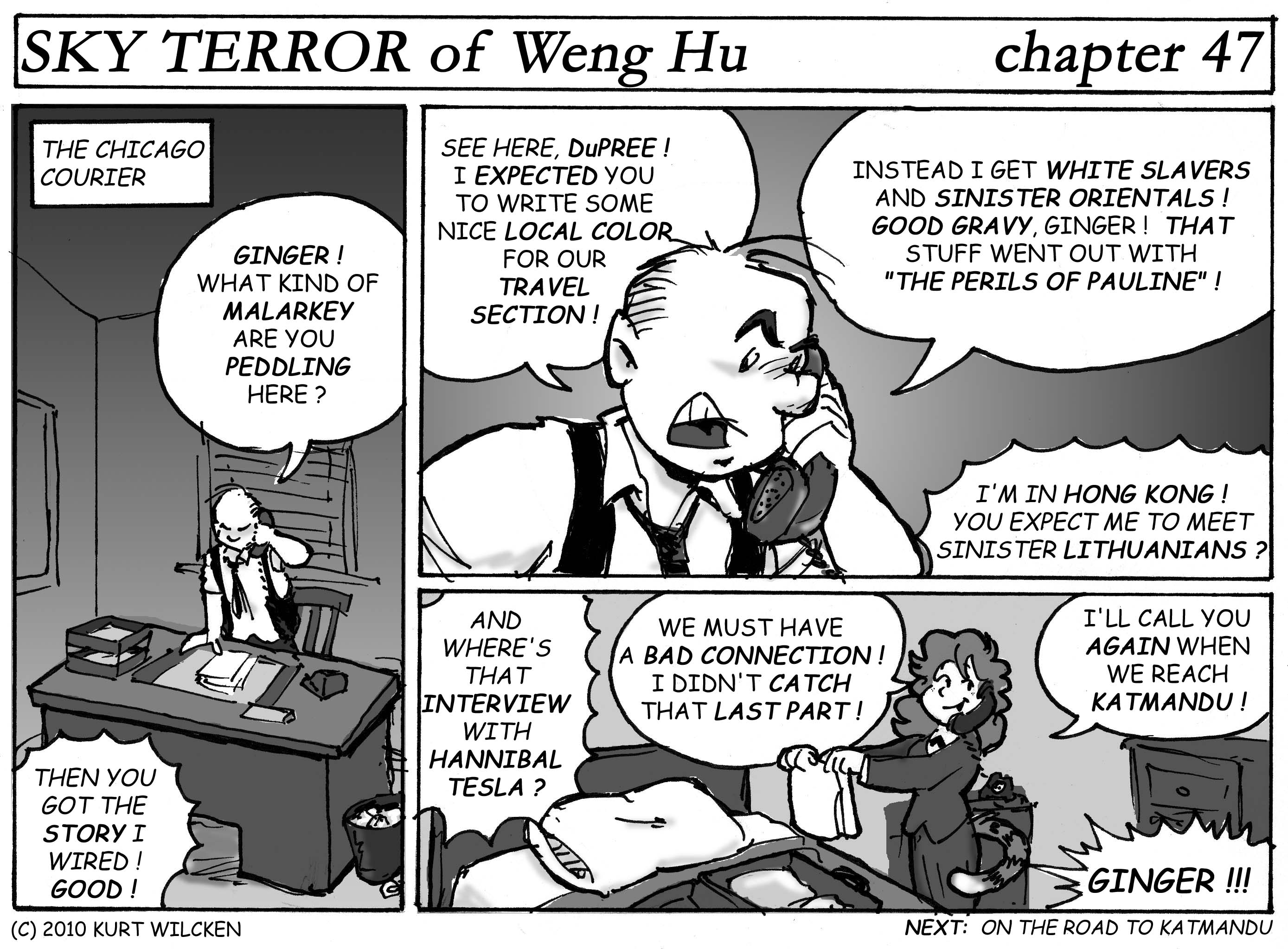 SKY TERROR of Weng Hu:  Chapter 47 — Back In Chicago