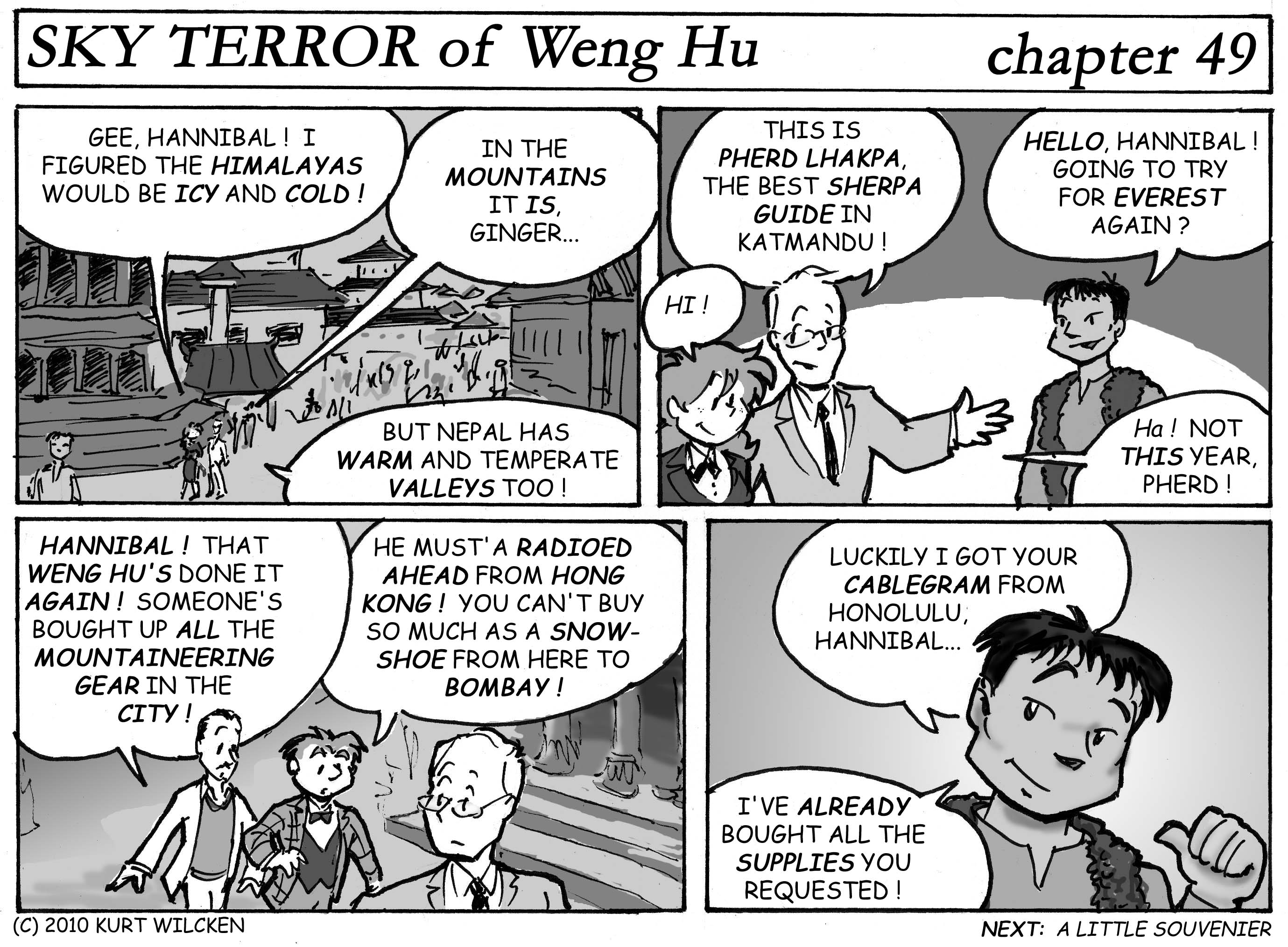 SKY TERROR of Weng Hu:  Chapter 49 — Helpful Sherpa Guide