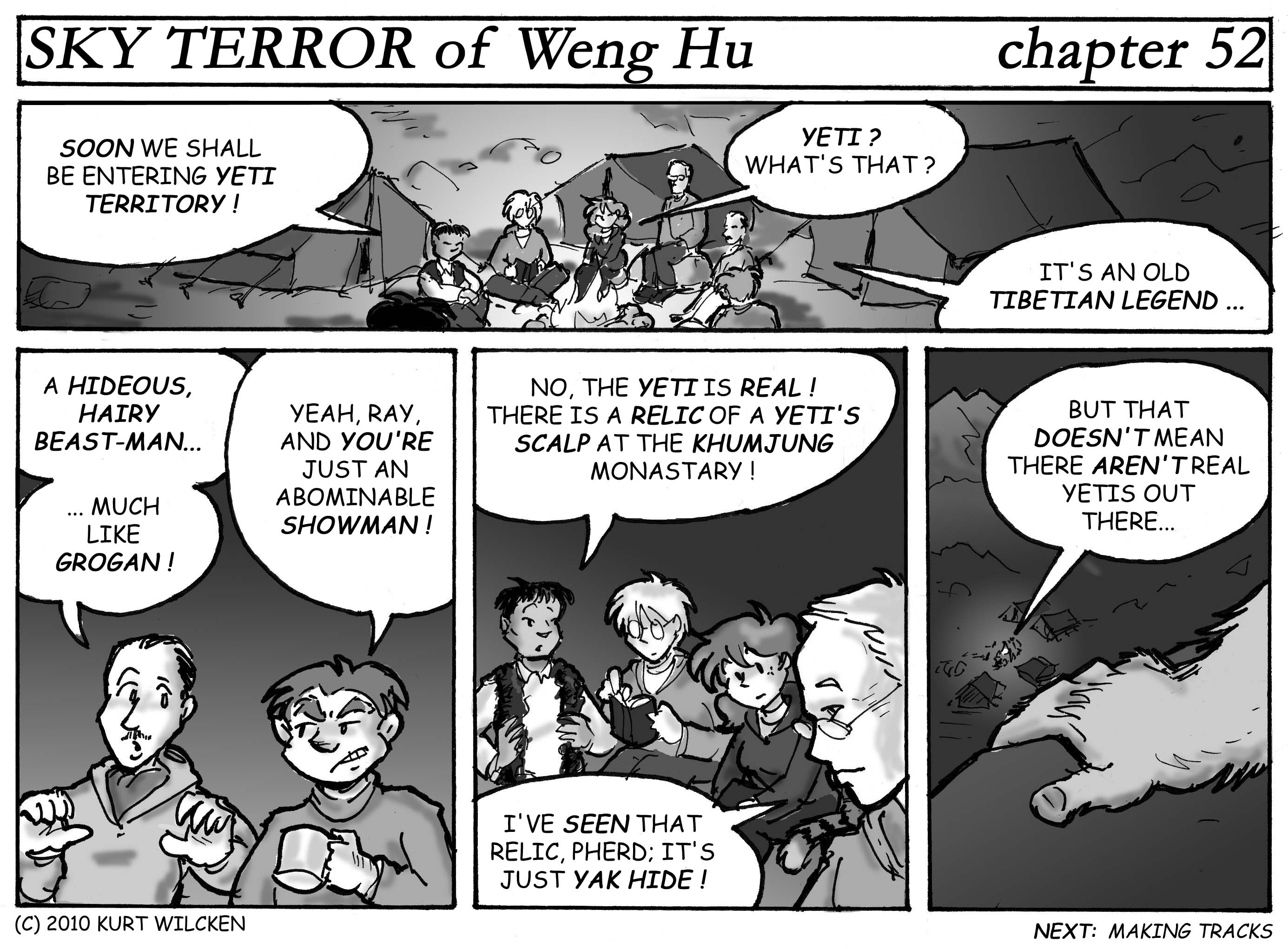 SKY TERROR of Weng Hu:  Chapter 52 — Yeti or Not