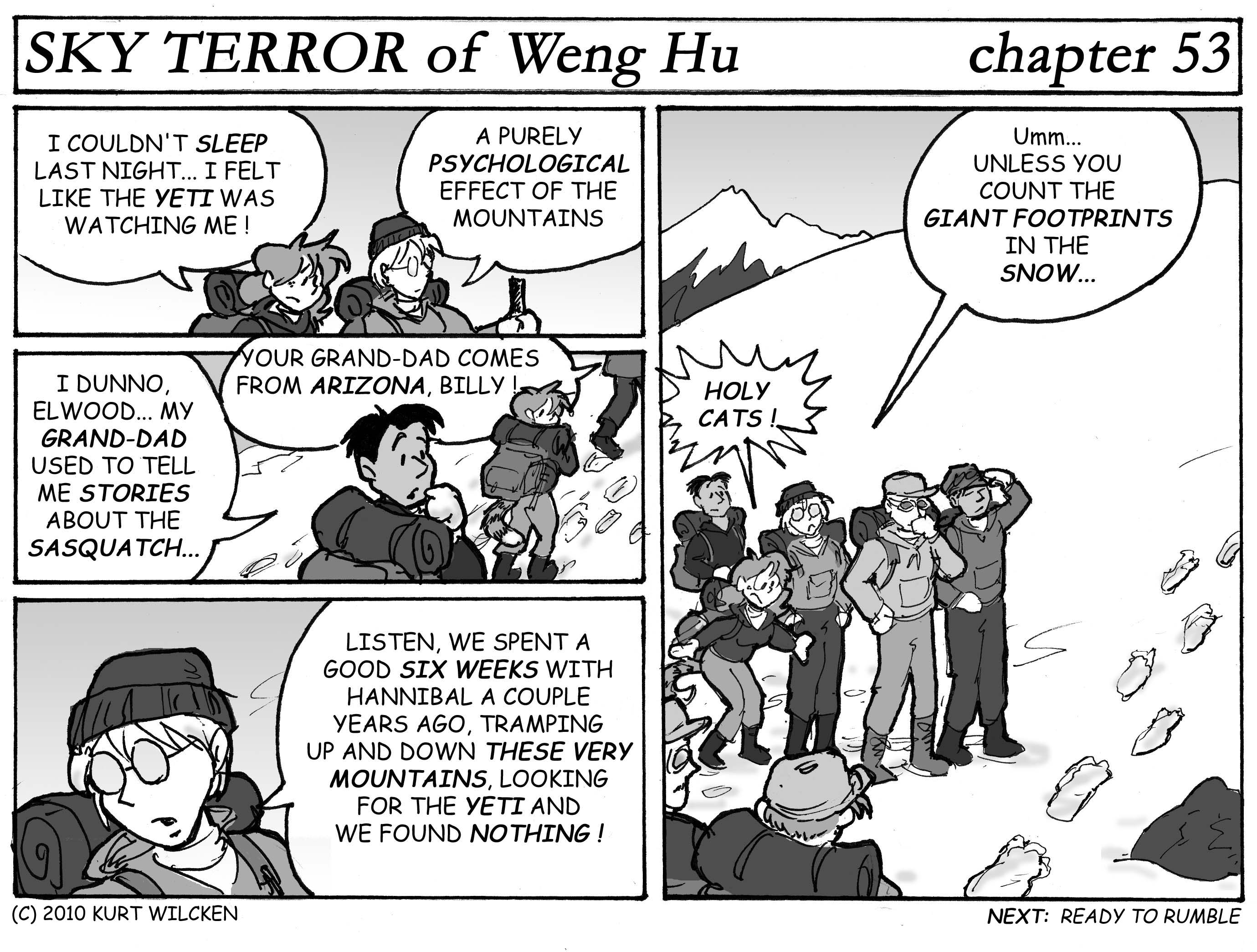 SKY TERROR of Weng Hu:  Chapter 53 — Making Tracks