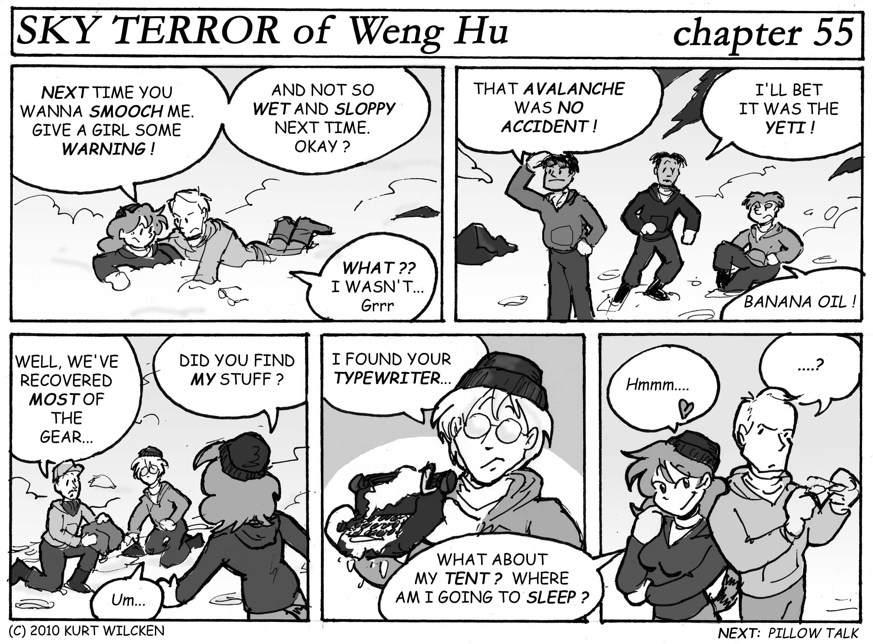 SKY TERROR of Weng Hu:  Chapter 55 — The Tent and the Typewriter