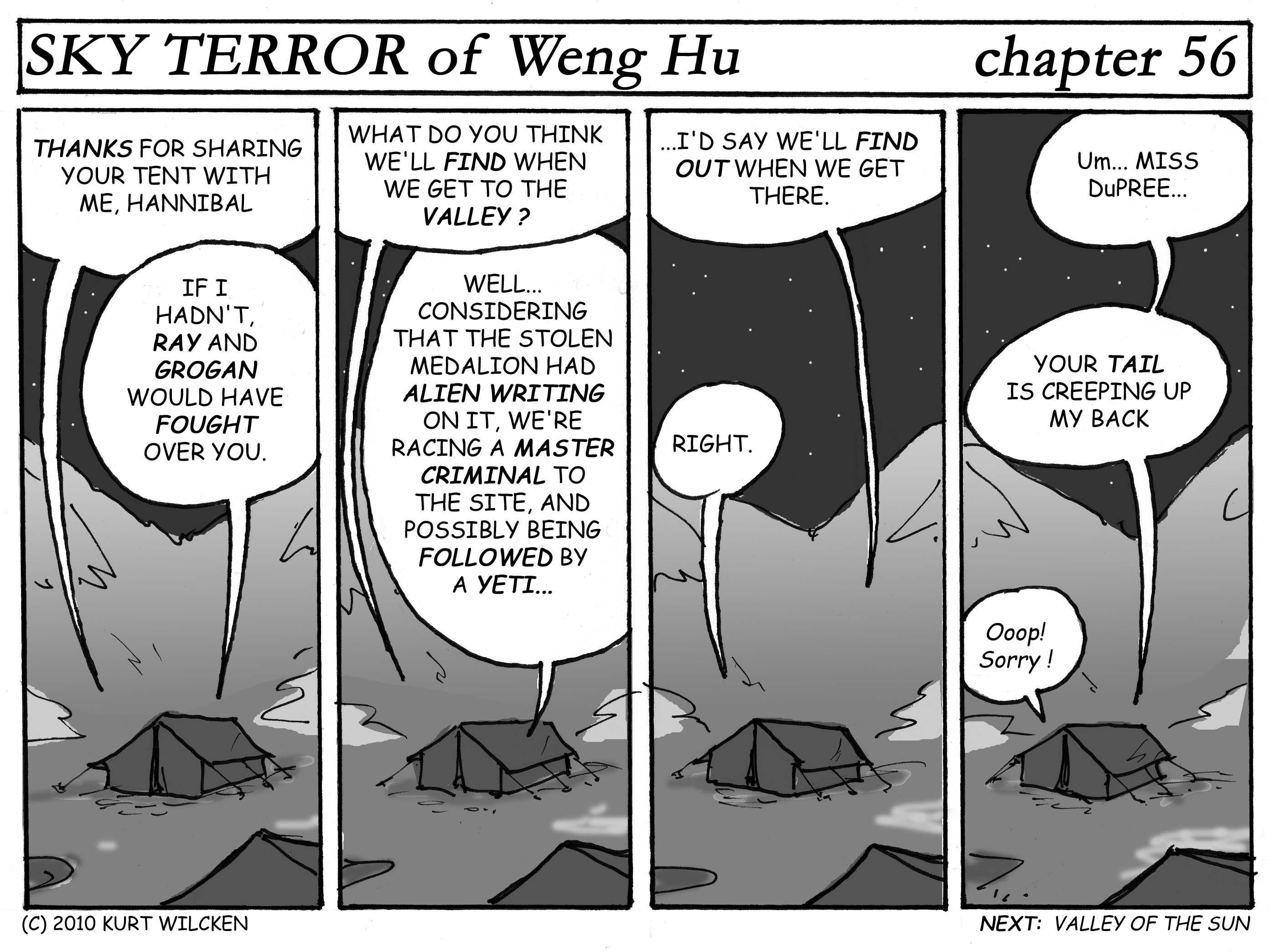 SKY TERROR of Weng Hu:  Chapter 56 — Pillow Talk