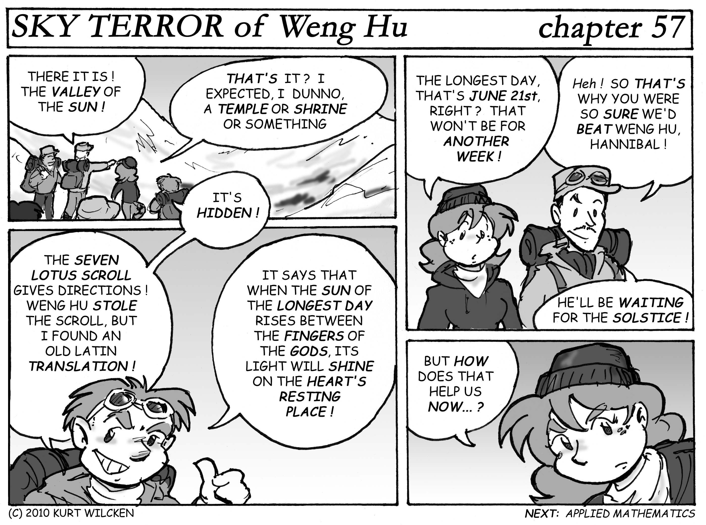 SKY TERROR of Weng Hu:  Chapter 57 — Valley of the Sun