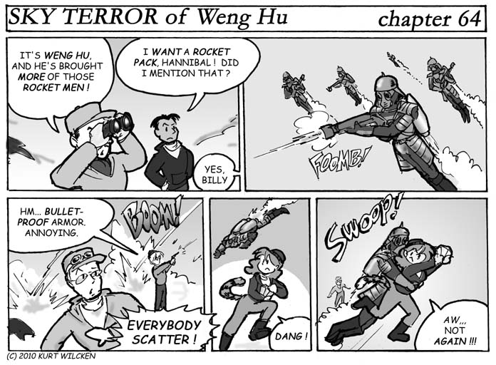 SKY TERROR of Weng Hu:  Chapter 64 — Rocket-Men Attack !