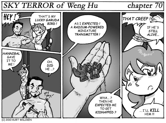 SKY TERROR of Weng Hu:  Chapter 70 — Secret of the Garuda Bird