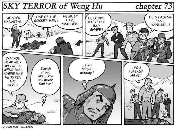 SKY TERROR of Weng Hu:  Chapter 73 — Last Words