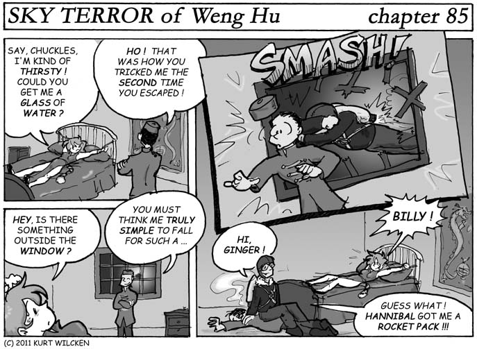 SKY TERROR of Weng Hu:  Chapter 85 — Don't Look Now