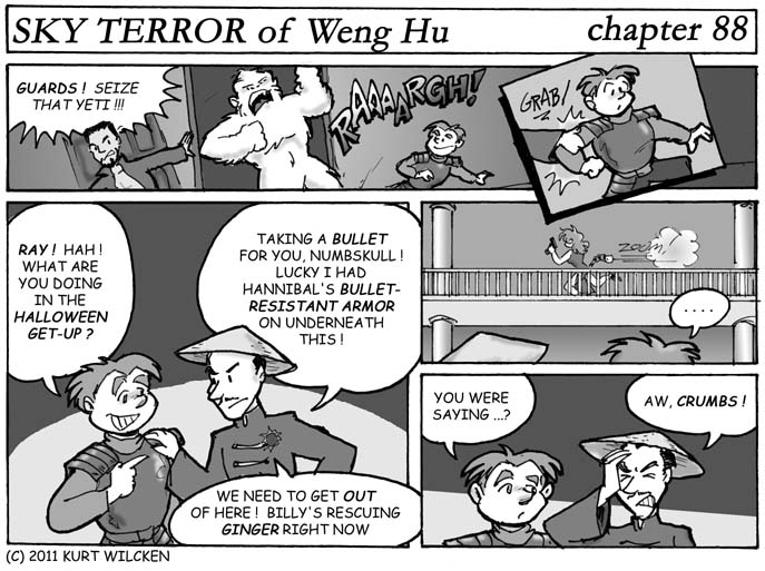 SKY TERROR of Weng Hu:  Chapter 88 — The Gang's All Here