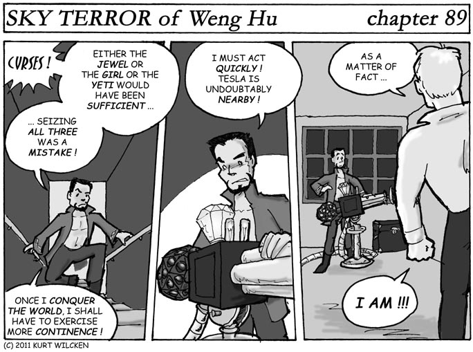 SKY TERROR of Weng Hu:  Chapter 89 — Death Rays and Regrets