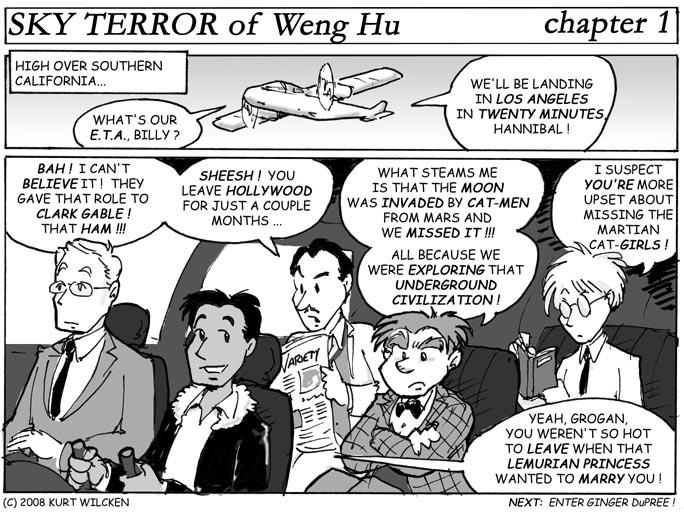 SKY TERROR of Weng Hu:  Chapter 1 — En Route to California