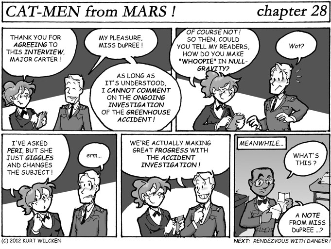 CAT-MEN from MARS:  Chapter 28 — Changing the Subject
