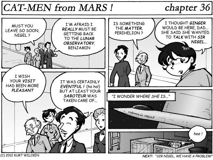 CAT-MEN from MARS:  Chapter 36 — Au Revoir, Goddard Station