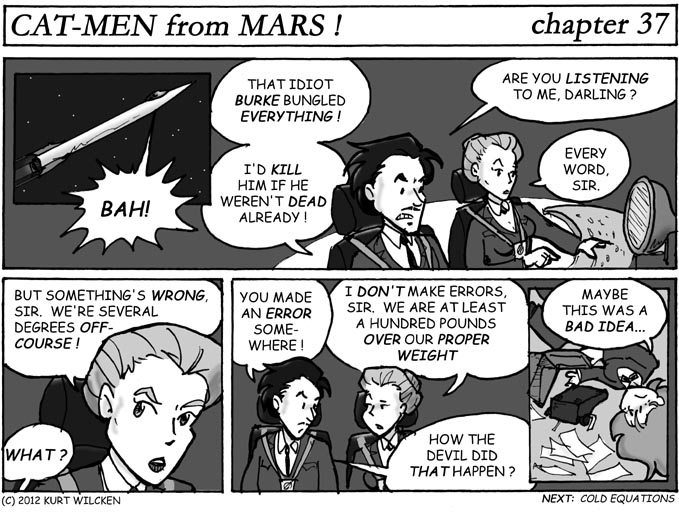 """CAT-MEN from MARS:  Chapter 37 — """"Sir Nigel, We Have a Problem…"""""""