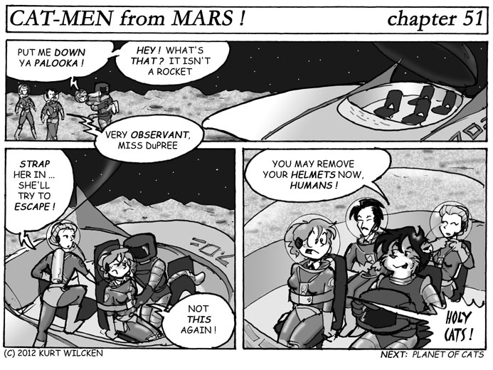CAT-MEN from MARS:  Chapter 51 — Rides From Strangers