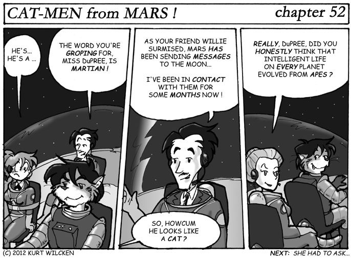 CAT-MEN from MARS:  Chapter 52 — Planet of Cats