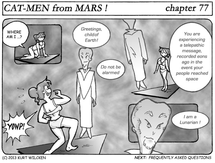 CAT-MEN from MARS:  Chapter 77 — Voice From The Past