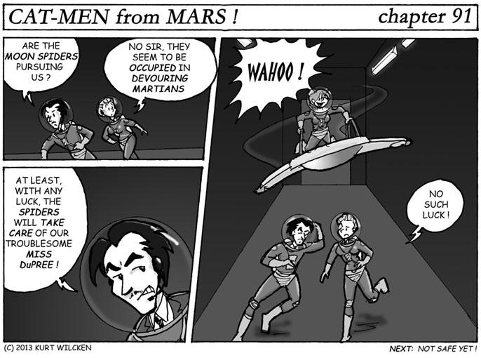 CAT-MEN from MARS:  Chapter 91 — Taking Flight