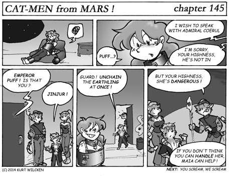 CAT-MEN from MARS:  Chapter 145 — Visiting Hours