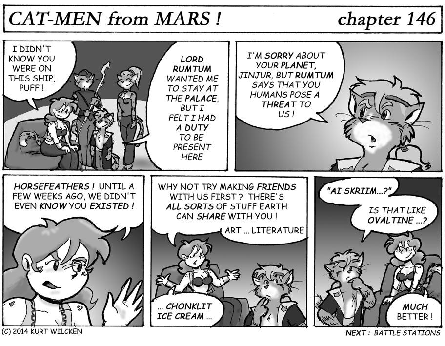 CAT-MEN from MARS:  Chapter 146 — You Scream, We Scream