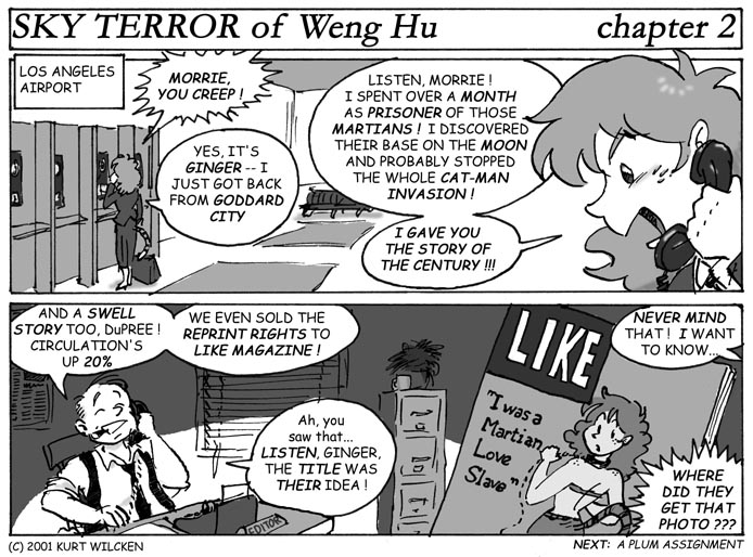 SKY TERROR of Weng Hu:  Chapter 2 — Enter Ginger DuPree