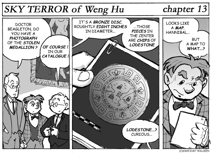 SKY TERROR of Weng Hu:  Chapter 13 — A Riddle in Bronze