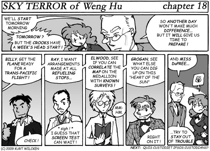 SKY TERROR of Weng Hu:  Chapter 18 — Team Assignments