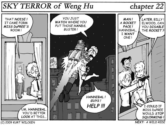 SKY TERROR of Weng Hu:  Chapter 22 — Hold Still, Ginger !