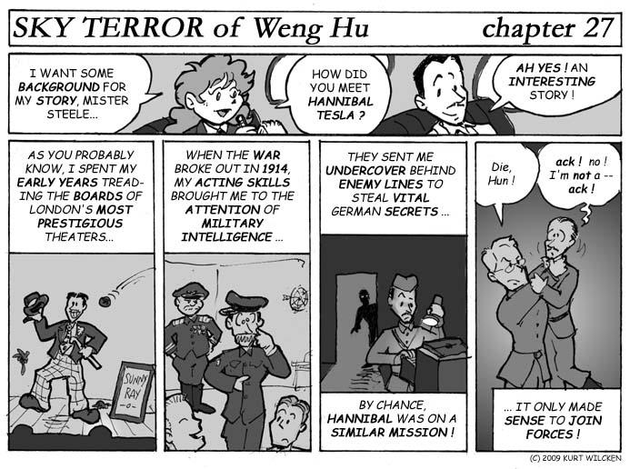 SKY TERROR of Weng Hu:  Chapter 27 — The Raymond Steele Story