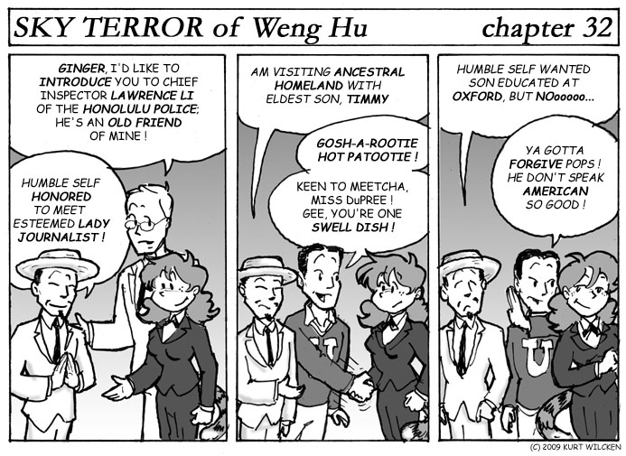 SKY TERROR of Weng Hu:  Chapter 32 — Father and Son