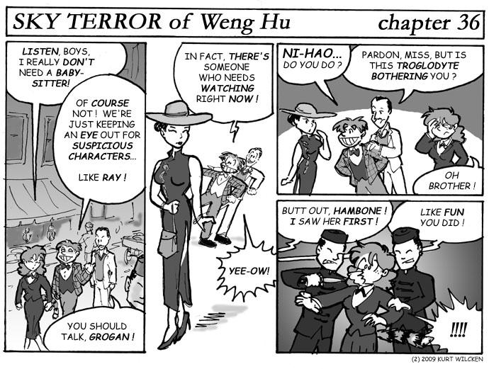 SKY TERROR of Weng Hu:  Chapter 36 — Watchful Guardians