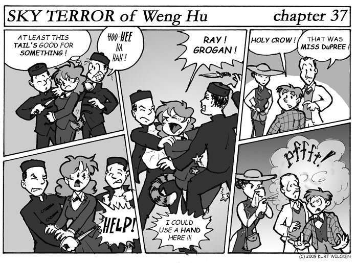 SKY TERROR of Weng Hu:  Chapter 37 — A Ticklish Situation