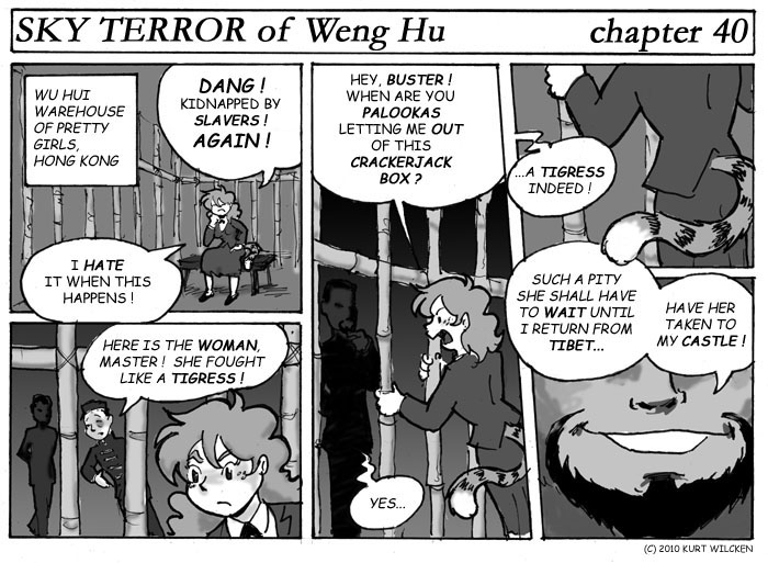 SKY TERROR of Weng Hu:  Chapter 40 — Visiting Hours