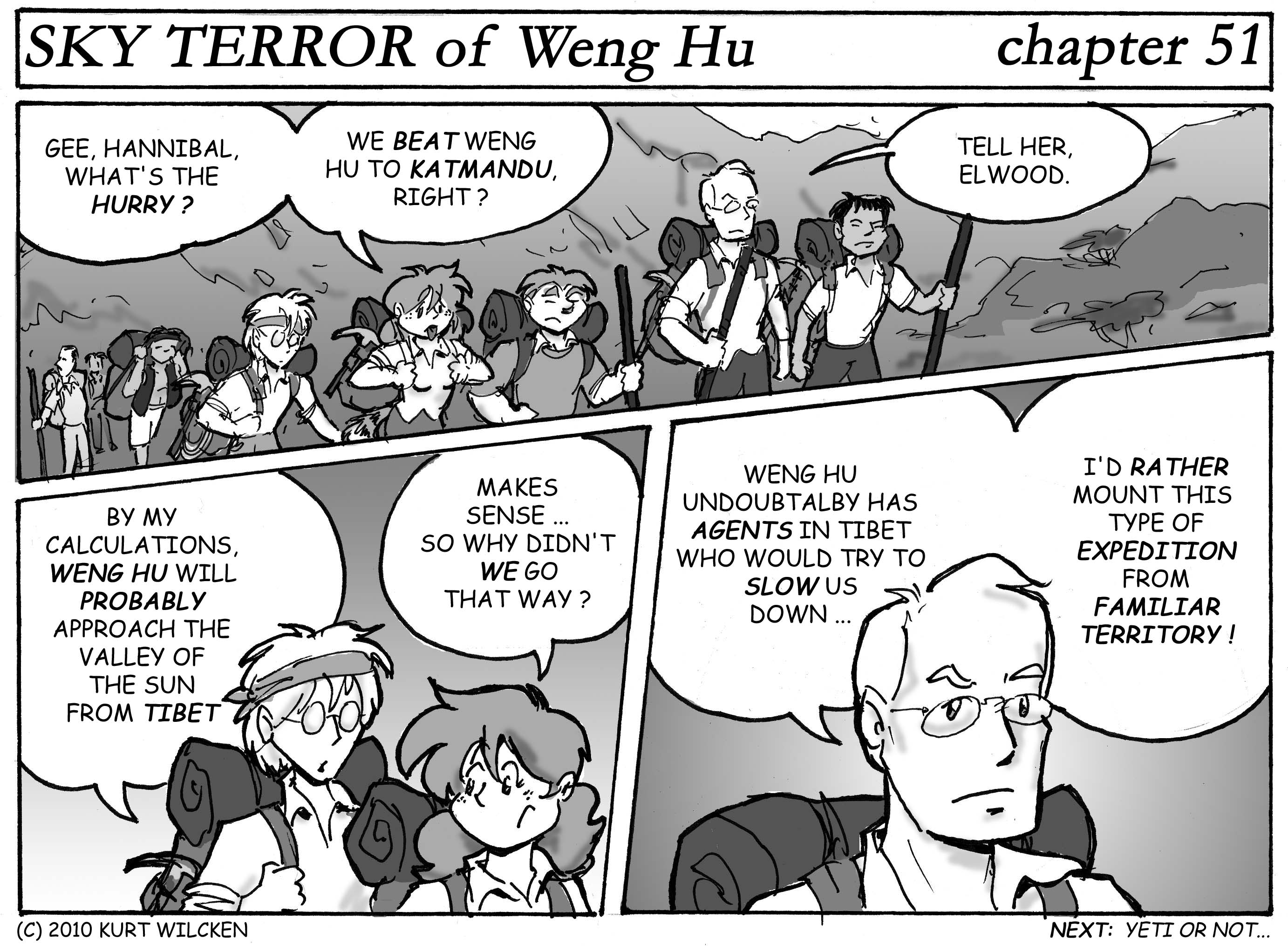 SKY TERROR of Weng Hu:  Chapter 51 — Into the Mountains
