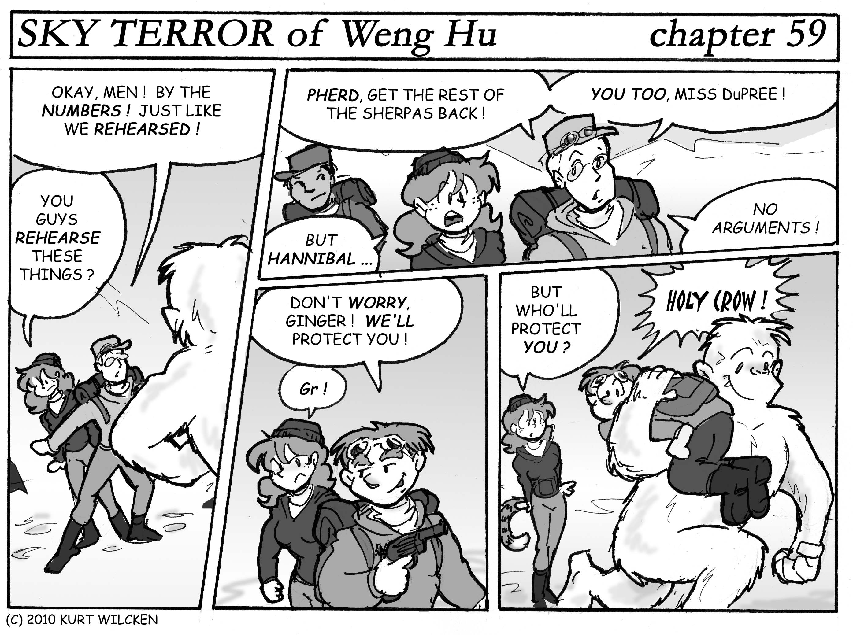 SKY TERROR of Weng Hu:  Chapter 59 — The Yeti Attacks !