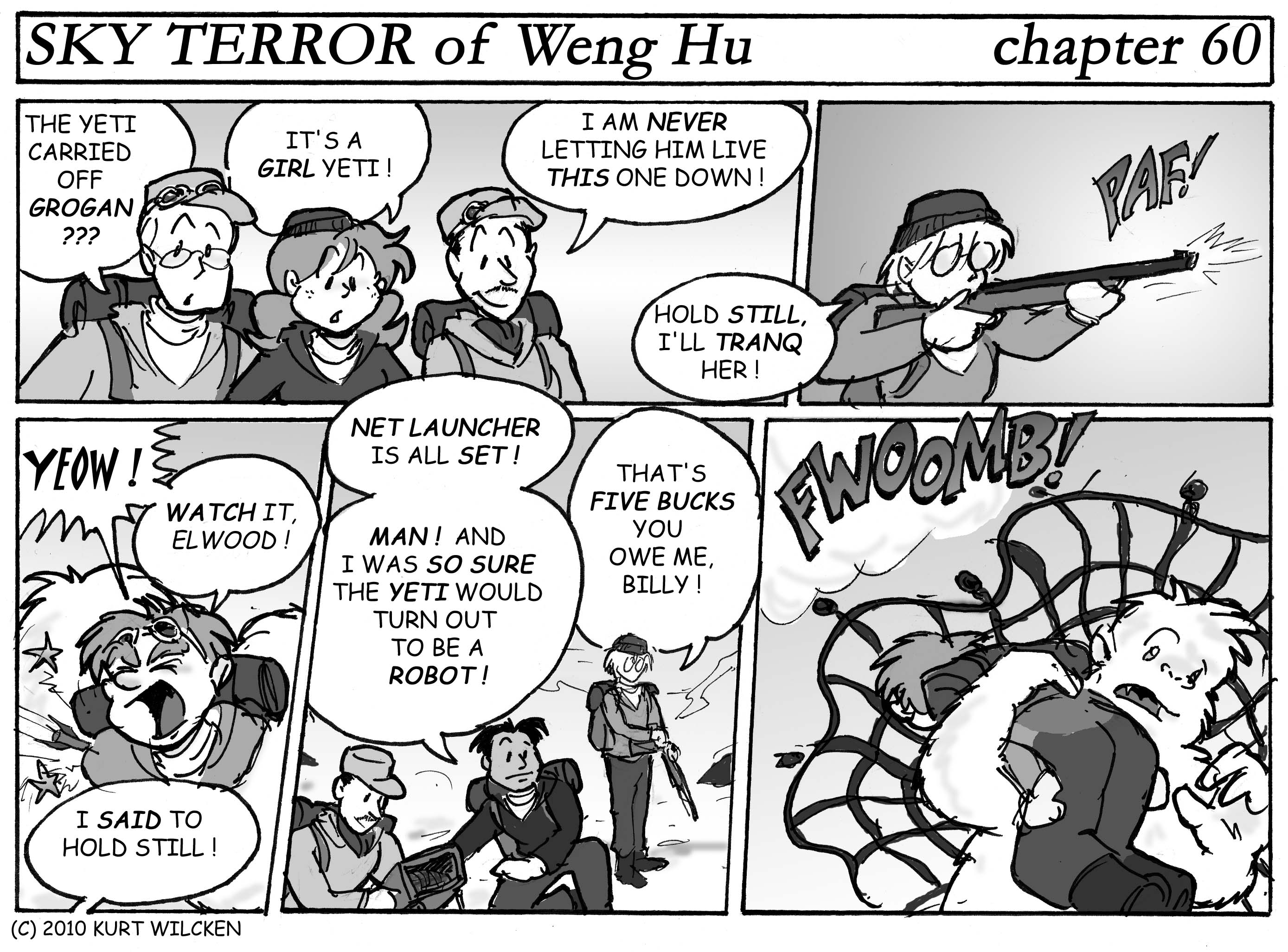 SKY TERROR of Weng Hu:  Chapter 60 — Stop That Yeti !