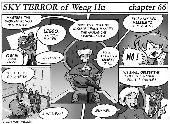SKY TERROR of Weng Hu:  Chapter 66 — Brought Before Weng Hu !