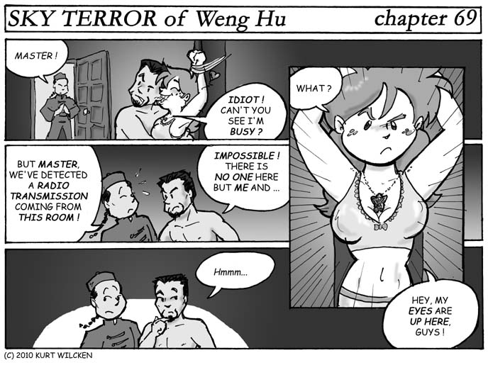 SKY TERROR of Weng Hu:  Chapter 69 — A Knock at the Door