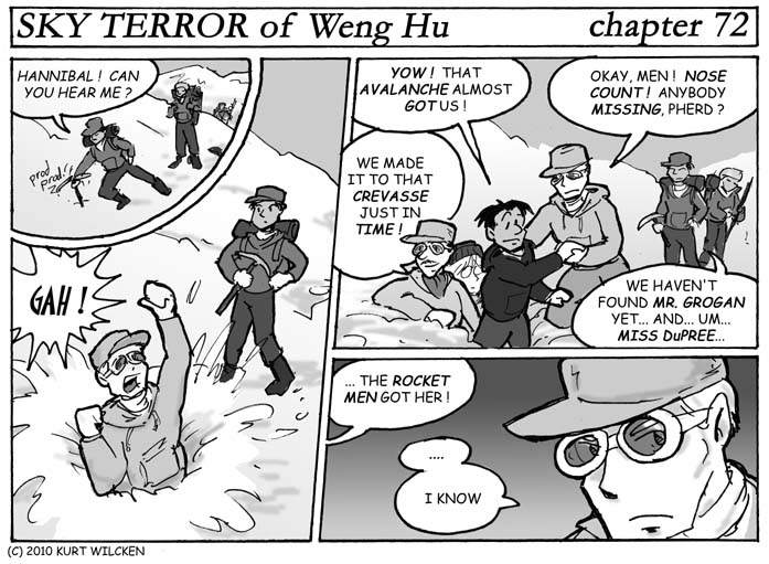 SKY TERROR of Weng Hu:  Chapter 72 — Any Port In an Avalanche