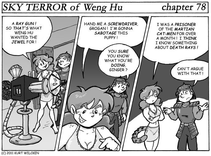 SKY TERROR of Weng Hu:  Chapter 78 — Ask an Expert