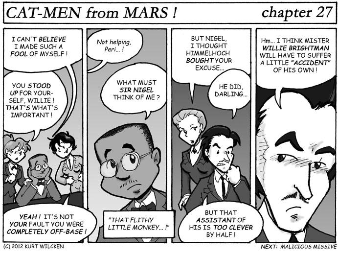 CAT-MEN from MARS:  Chapter 27 — Open Mouth, Insert Foot